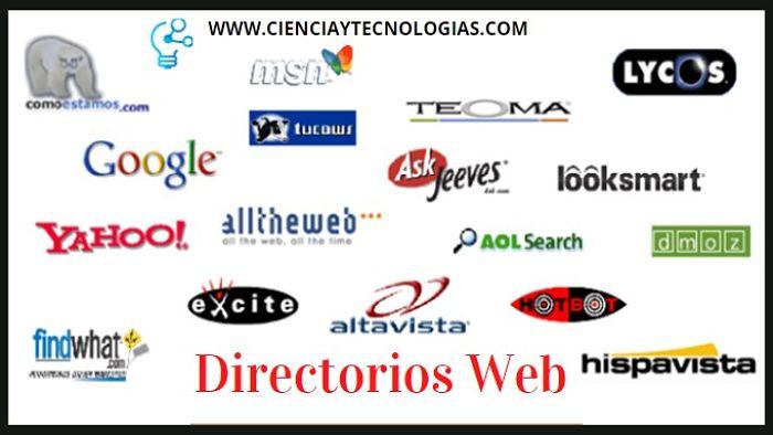 Los directorios trabajan solo registrando ciertos datos de la página web. Es decir, no transitan los sitios web ni aprovisionan sus contenidos.