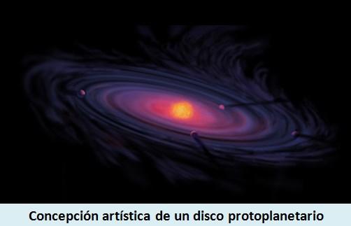 Concepción artística de un Disco Protoplanetario