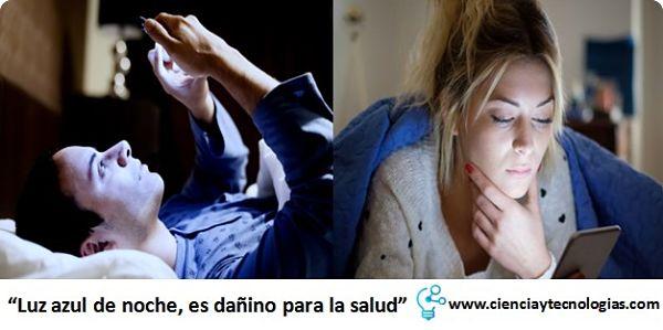 Luz azul de noche, es dañino para la salud