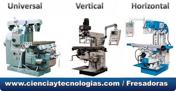 Tipos de máquinas Fresadoras