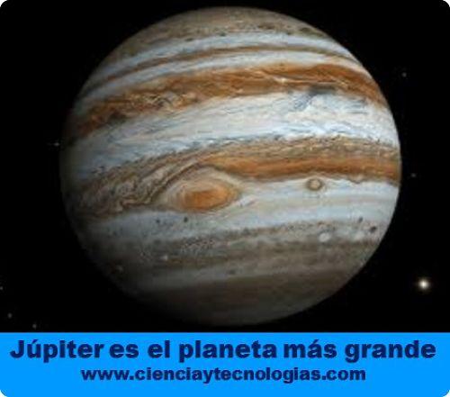 Júpiter si es el planeta más grande