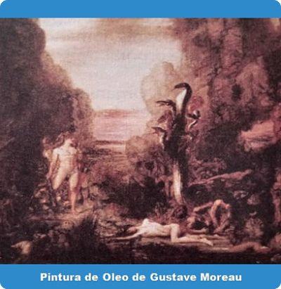 Pintura de oleo de Gustave Moreau sobre la regeneración y Heracles frente a la Hidra