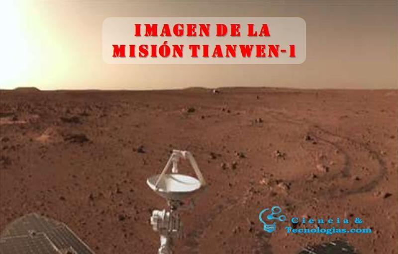Imagenes de la misión Tianwen-1, campo de exploración de 236 metros en 42 días marcianos