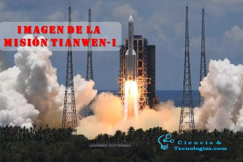 Imagenes de la misión Tianwen-1 en su fase de lanzamiento