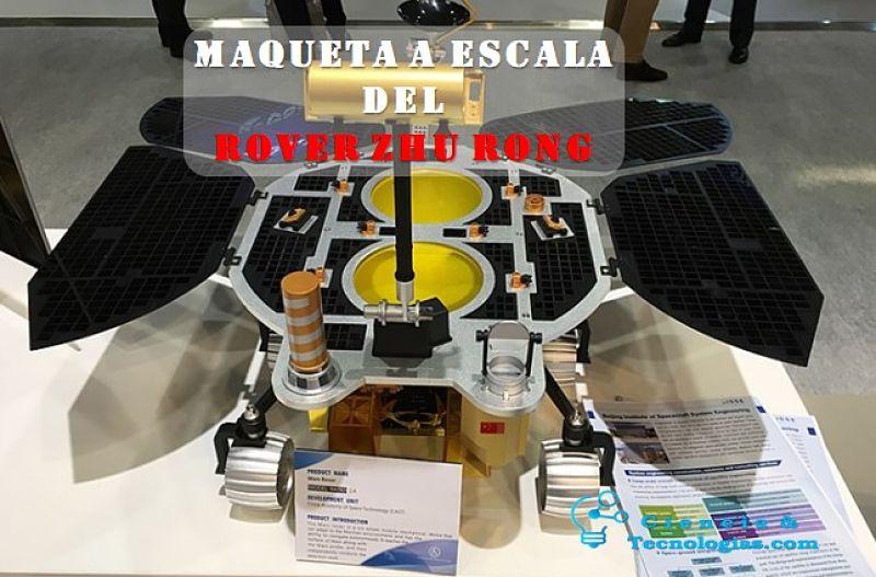Maqueta a escala del Rover Zhu Rong