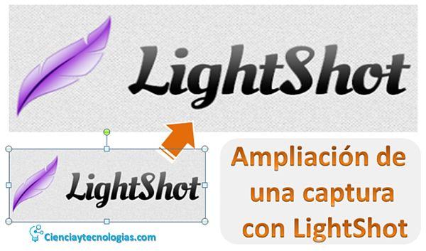 Ampliación de un Screenshots con Lightshot