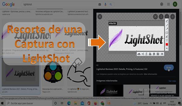Recorte de una captura con LightShot